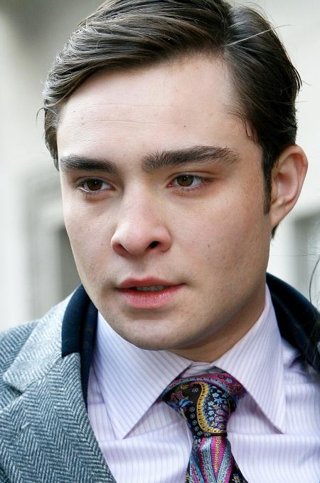 Ed Westwick with freshly combed hair in Gossip Girls