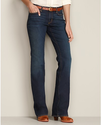 Eddie Bauer, Curvy Bootcut Jeans, StayShape