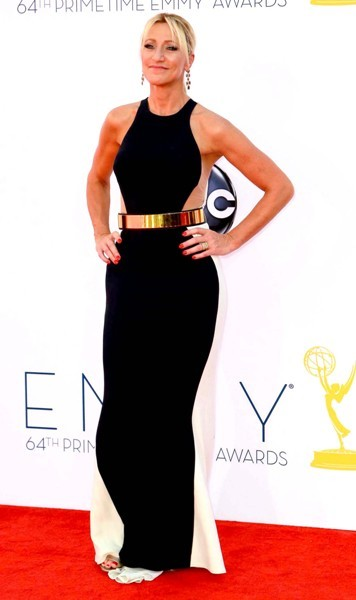 Edie Falco gets assymetrical at Emmys