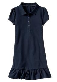 Ruffled Pique Polo Dress