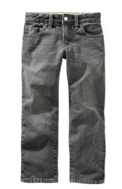 Straight Fit Grey Wash Jeans