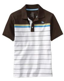 Striped Sueded Polos