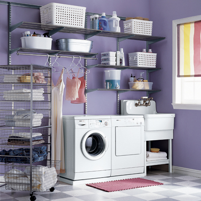 Platinum elfa Laundry Room