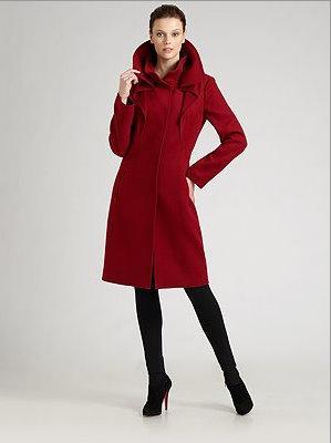 Elie Tahari red coat