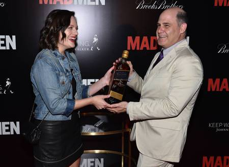 Elisabeth Moss and Matthew Weiner