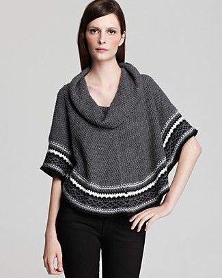 Ella Moss Stockholm Fair Isle Sweater Cape