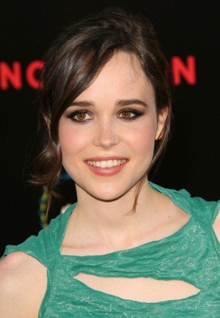 Ellen Page's classic, updo hairstyle