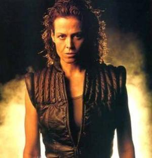 Sigourney Weaver as Ellen Ripley in the Alien series