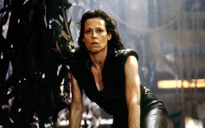Sigourney Weaver as Ellen Ripley in the Alien series