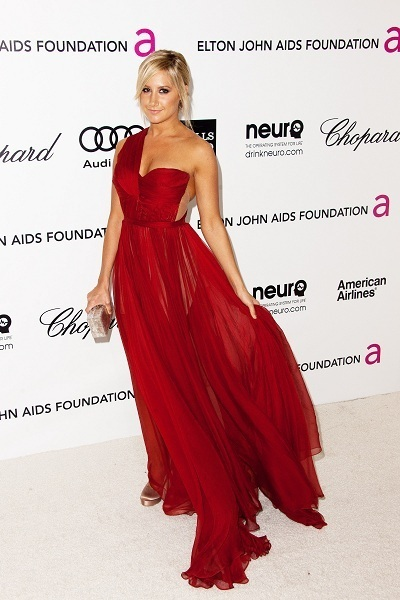 Ashley Tisdale at Elton John Oscar Event