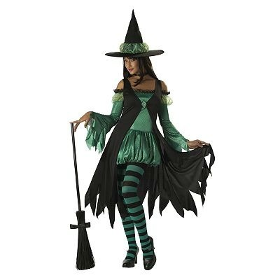 Adult Halloween Costumes. Women's Emerald Witch Costume