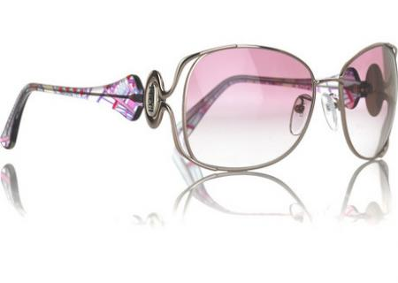 Emilio Pucci Pink Metal Sunglasses