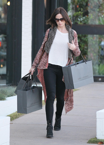 Emily Blunt doing some shopping in LA