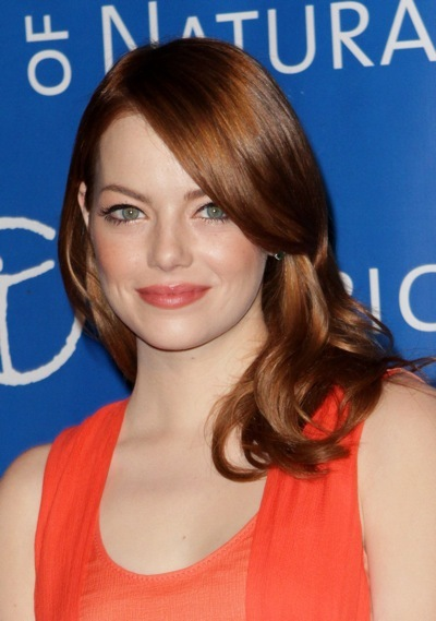 Emma Stone with soft curls