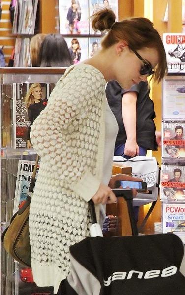 Emma Stone with a messy bun