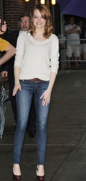 Emma Stone in a sweater