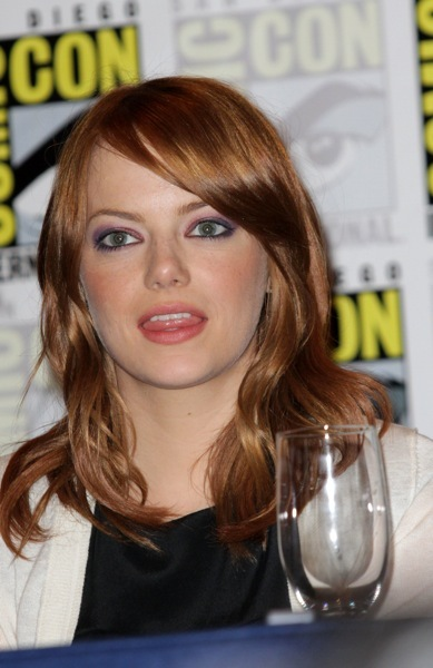 Emma Stone's natural hairstyle