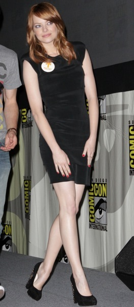 Emma Stone in all black