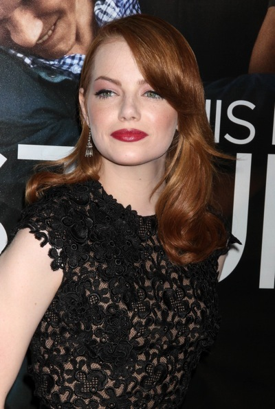 Emma Stone with dramatic makeup
