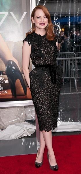 Emma Stone in beautiful fabric