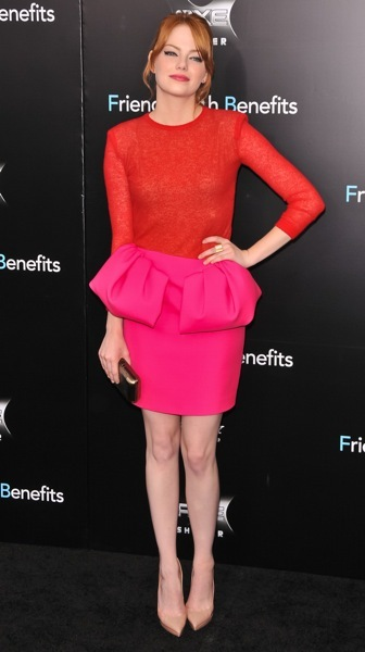 Emma Stone in vibrant colors