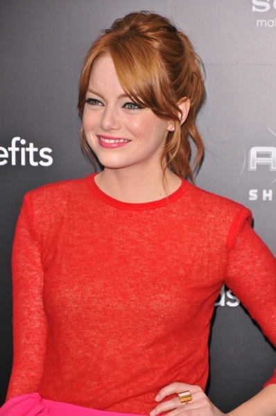Emma Stone in a ponytail