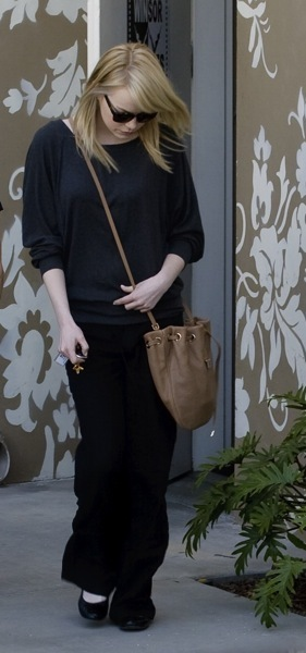 Emma Stone's comfortable style