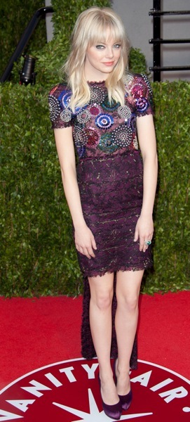 Emma Stone mixes patterns