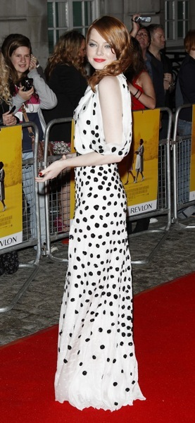 Emma Stone in patterns