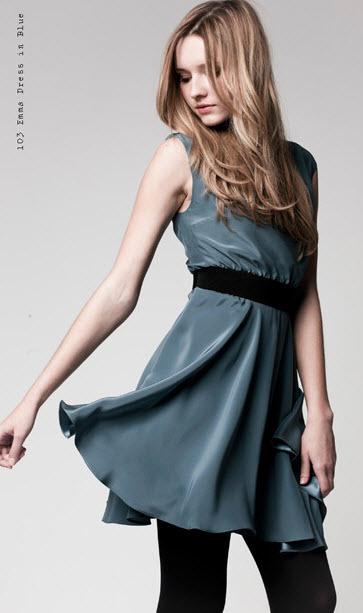 Emma Dress in blue