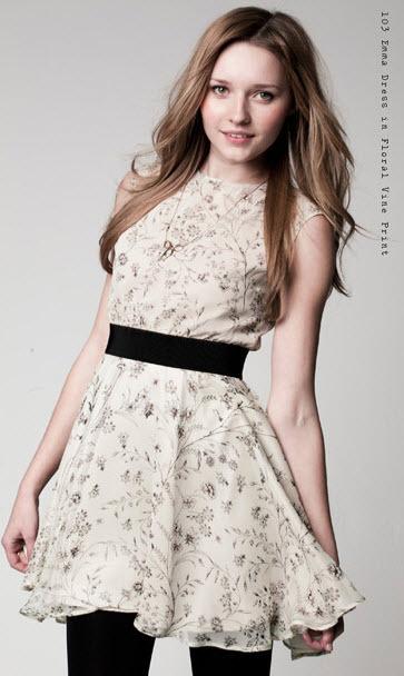 Emma Dress in Floral Vine Print