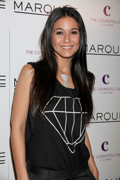 Emmanuelle Chriqui's long, straight hairstyle