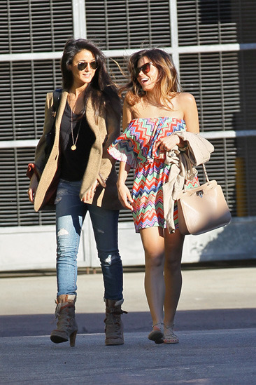Emmanuelle Chriqui and Jenna Dewan have lunch in LA