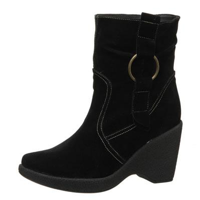 Enigma Wedge Ankle Boots