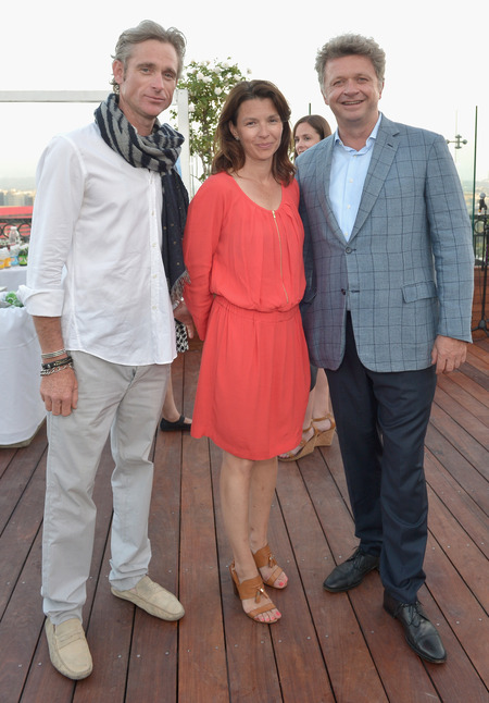 Equestrian rider Justin Resnik, Anouk Blain Maillot & EEM World, CEO Christopher Ameeuw