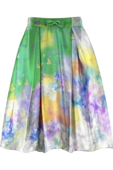 Erdem Laverna Silk Skirt