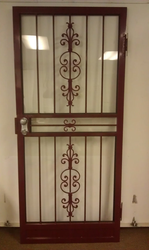 Steel Security Storm Door with Matador Design
