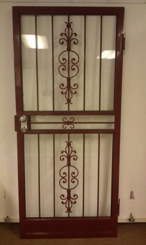Steel security storm door with matador design storm doors for Security storm doors
