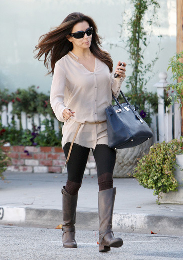 Eva Longoria leaving a salon in Beverly Hills