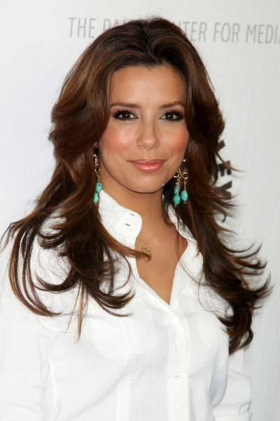 Eva Longoria Parker's Long Layered Hairstyle. At the Arclight Theater in Los