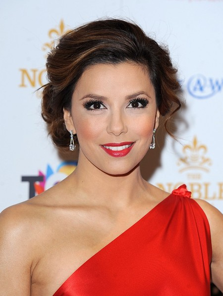 Eva Longoria's Side Swept Bangs