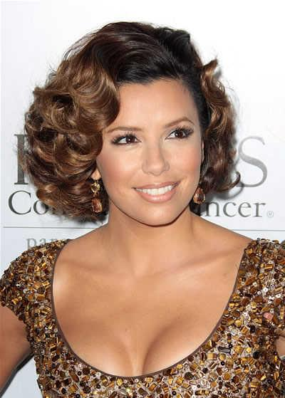 Eva Longoria Parker's sexy short curly hairstyle