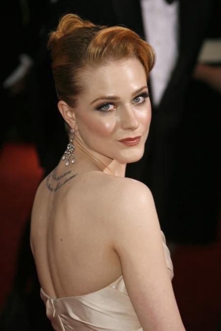 Evan Rachel Wood at the Academy Awards
