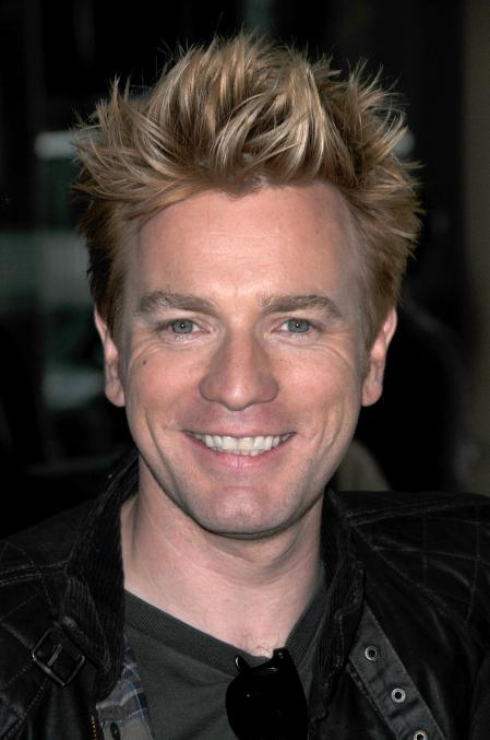 Ewan McGregor smiling with blonde hair in Beverly Hills