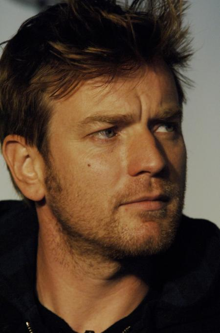 Ewan McGregor sporting a goatee