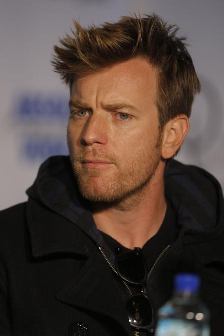 Ewan McGregor with a pensive look