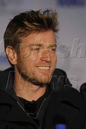 Ewan McGregor flashes a smile