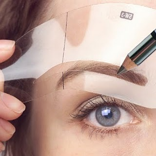 Use a brow stencil kit