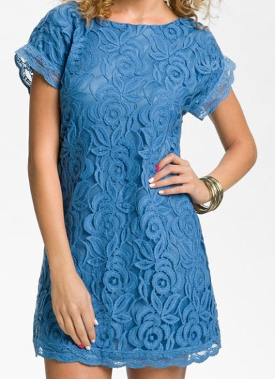 Fire Lace Floral Dress