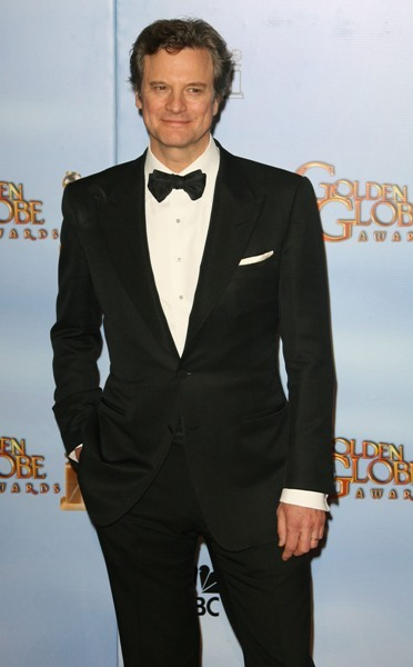 Colin Firth arrives at the Golden Globes